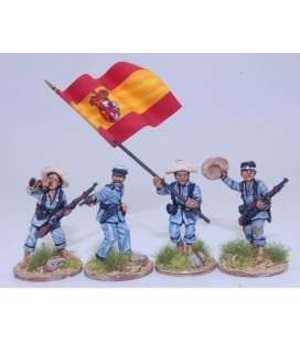 Filipino infantry command group, Spanish native troops
