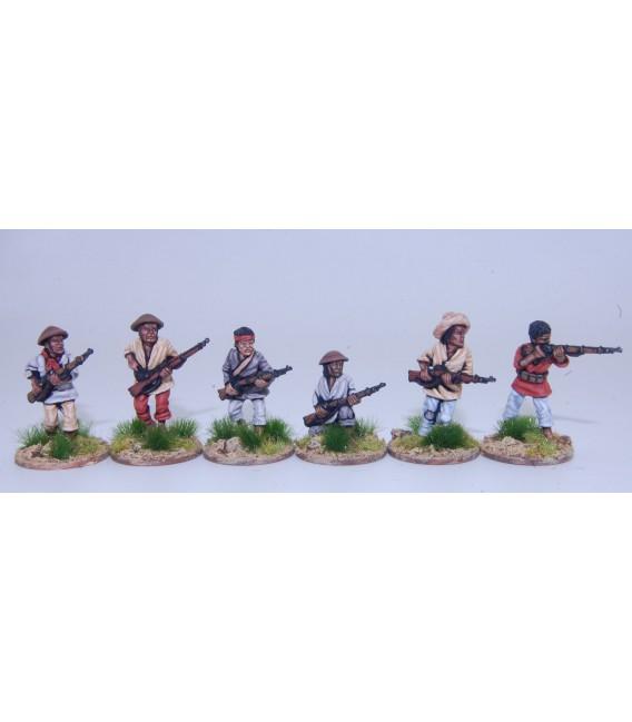 Insurgentes tagalos con armas de fuego