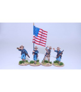 US Federal Infantry command group advancing