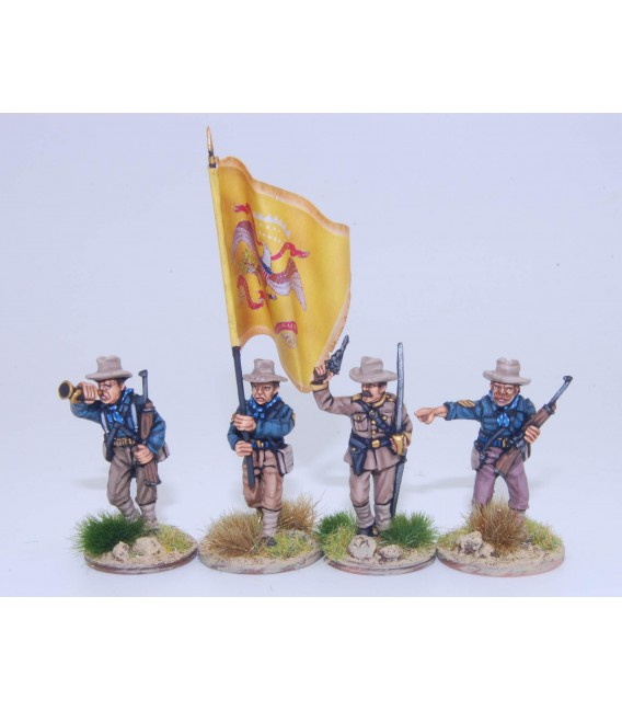US Dismounted Cavalry/Rough Riders command group