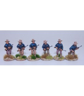 US Dismounted Cavalry/Rough Riders advancing
