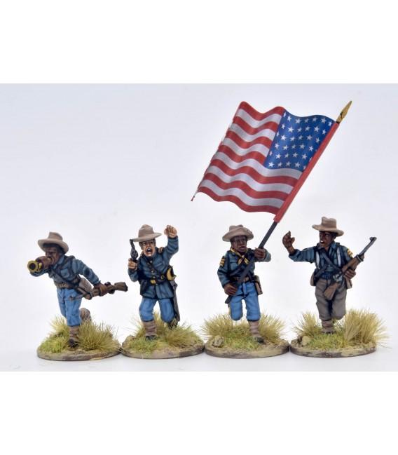 Grupo de mando, 9.º y 10.º de caballería (Buffalo soldiers)