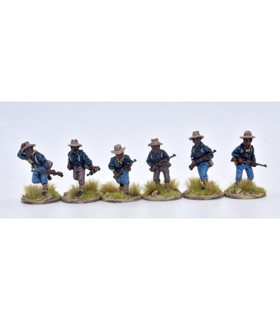 9.º y 10.º de caballería (Buffalo soldiers) avanzando