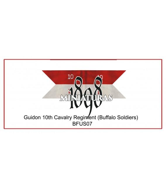 Company Guidon, 10th Cavalry (Buffalo soldiers)