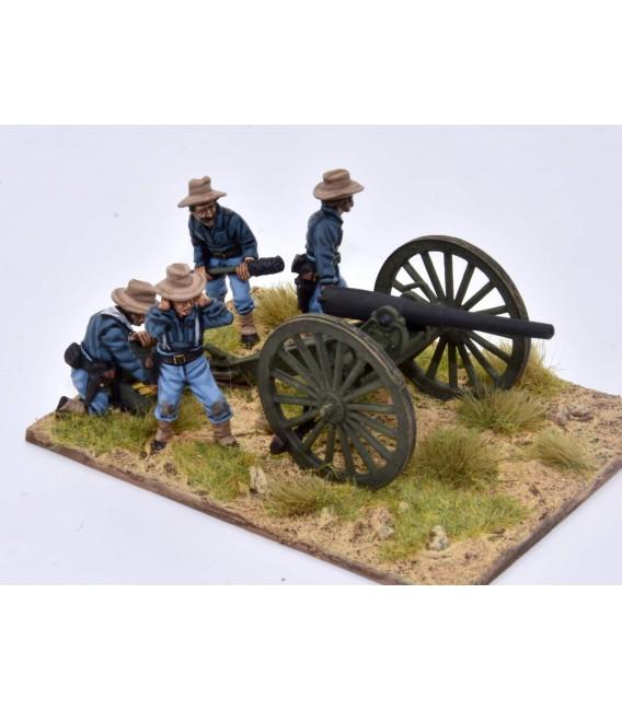 """Cañón EE. UU. M1897 3,2"""" (80mm) disparando"""