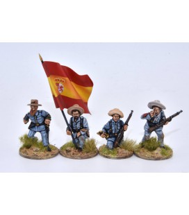 Spanish infantry command group in combat