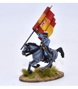 Coronel español a caballo
