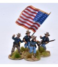US Infantry/Cavalry command group advancing