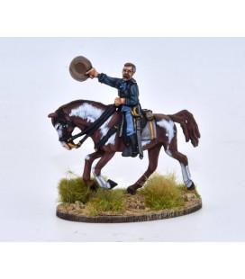 Coronel estadounidense a caballo