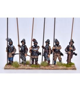 Piqueros con armadura pica vertical