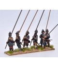 Armoured pikemen at porte