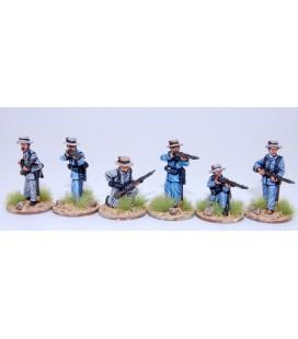 Infantería española disparando/recargando