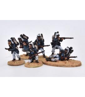 Legionarios en escaramuza, orden de marcha (mochilas)