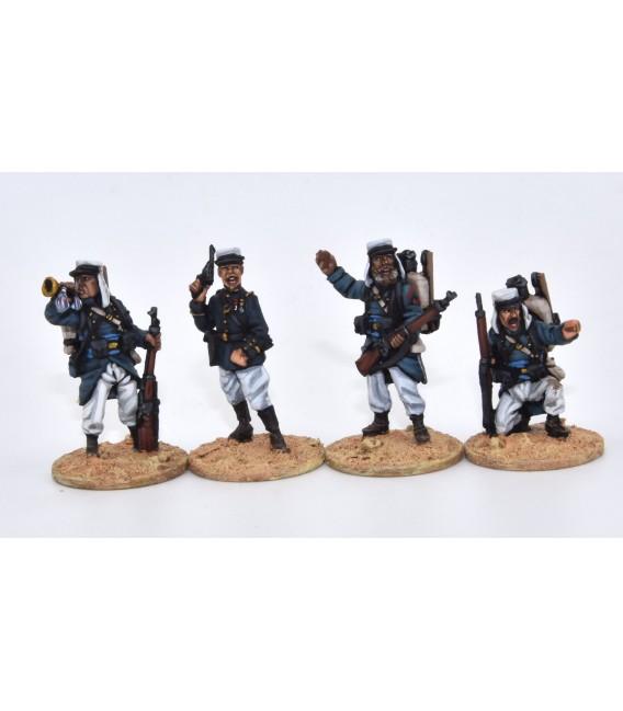 Command group fighting, full marching order (knapsack)
