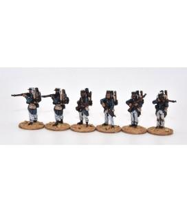 Légionnaires firing line, full marching order (knapsack)