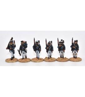 Légionnaires marching, full marching order (knapsack)