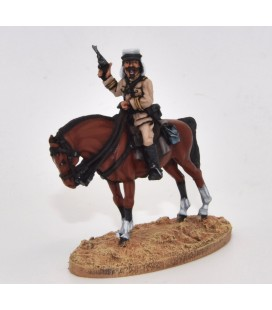 Mounted officer with kepi