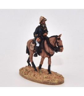 Mounted officer with pith helmet