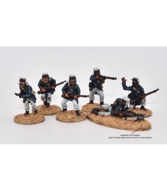 Legionarios en escaramuza, equipo ligero de campaña