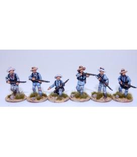 infantería española en escaramuza, campaña