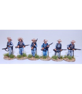Spanish infantry advancing, campaign dress