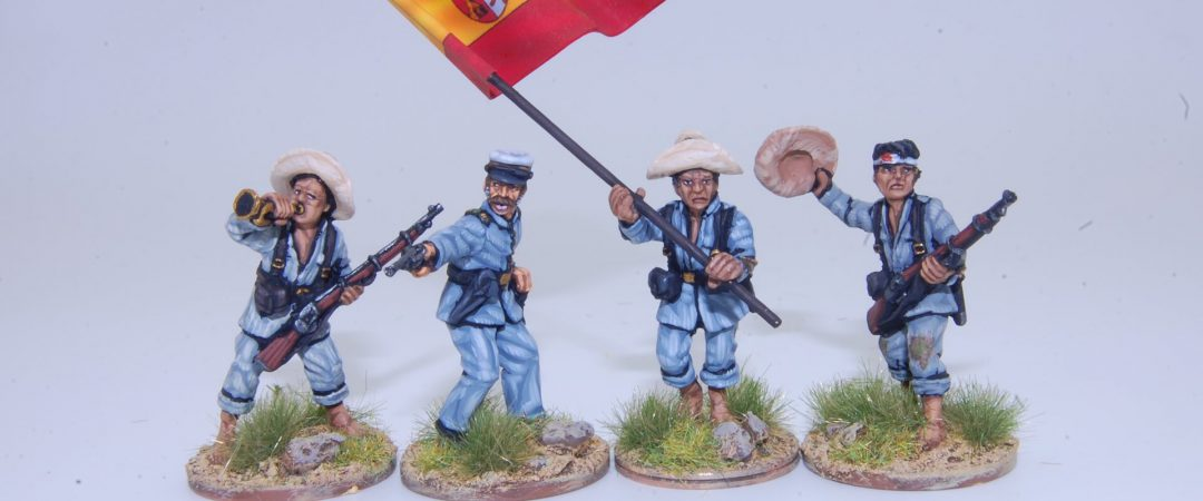 FL1-Filipino infantry command group, Spanish native troops