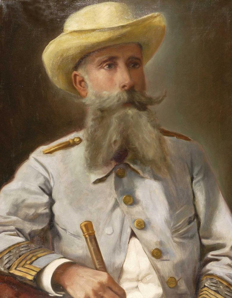 Retrato del general Joaquín Vara de Rey y Rubio de la galería de hijos ilustres del Ayuntamiento de Ibiza.