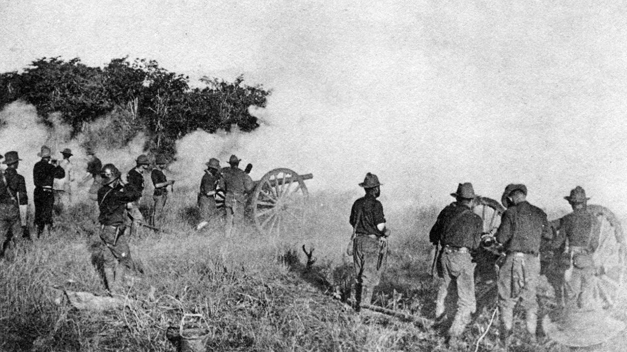 Artillería estadounidense en El Caney.