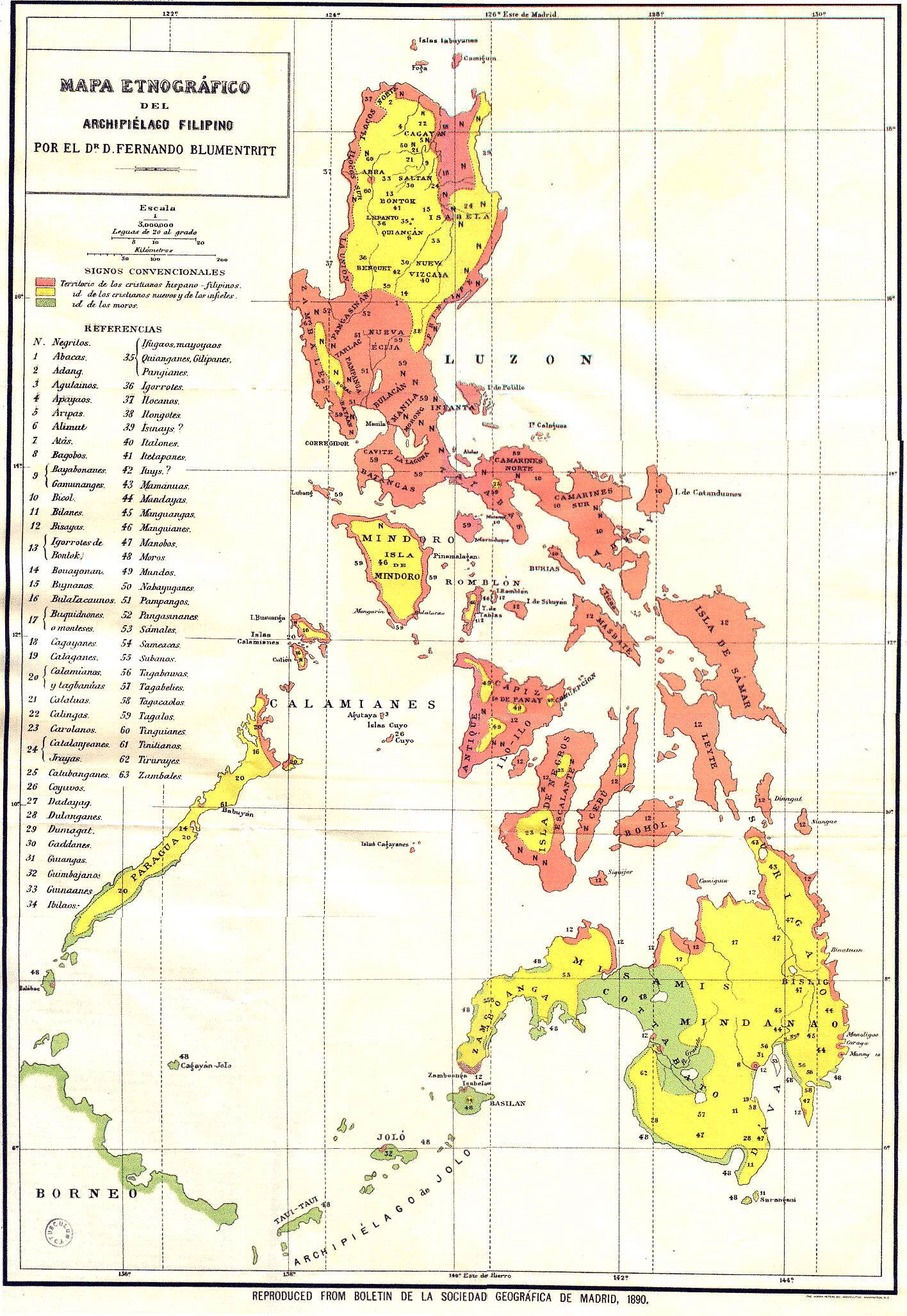 Mapa de Filipinas 1890