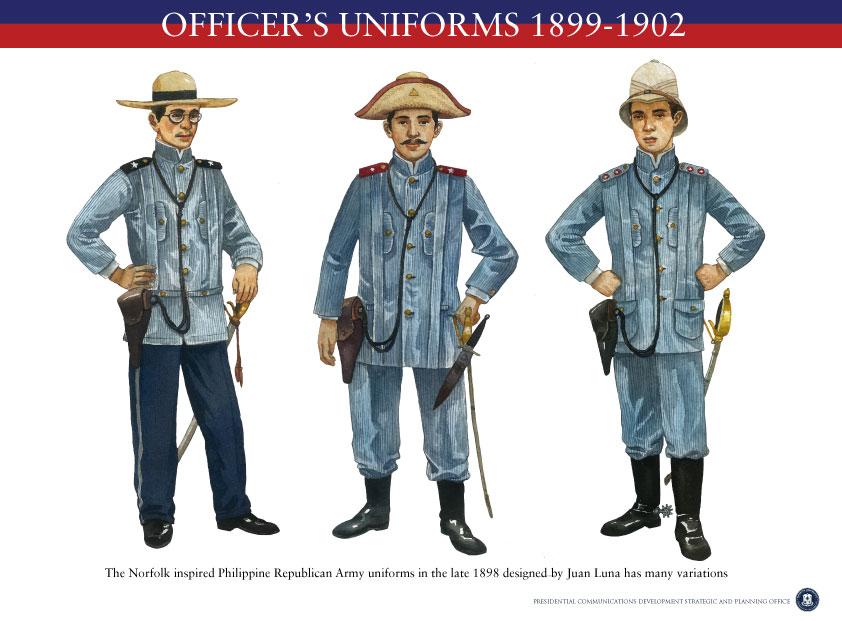 Uniformes filipinos: oficiales