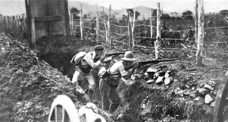 Trincheras españolas en El Caney.