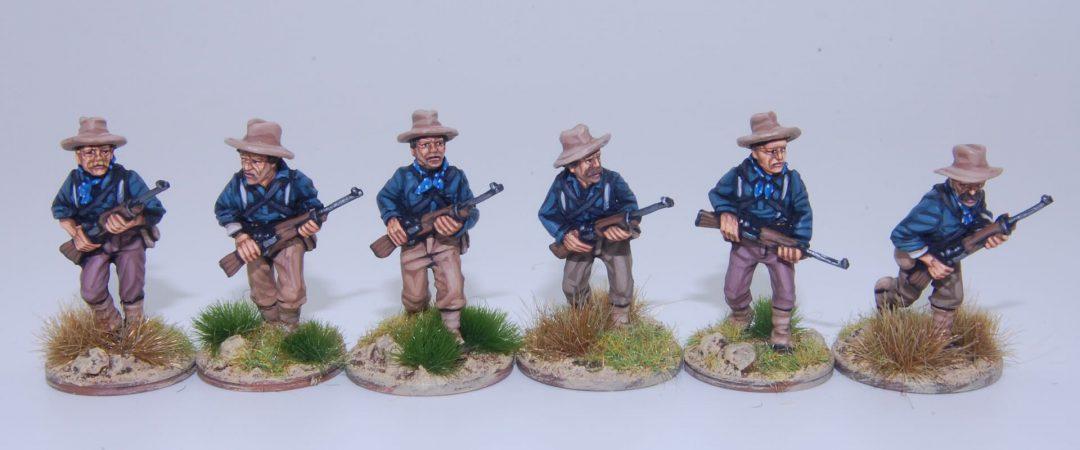 US5-Caballería desmontada EE.UU./Rough Riders avanzando