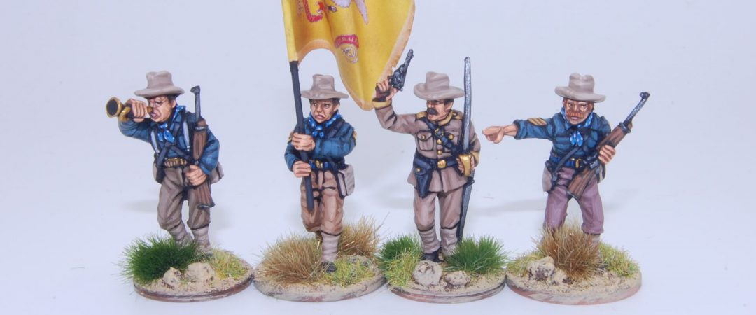 US4-US Dismounted Cavalry/Rough Riders command group