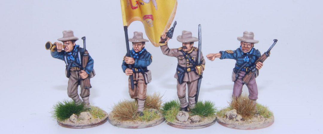 US4-Caballería desmontada EE. UU./Rough Riders grupo de mando
