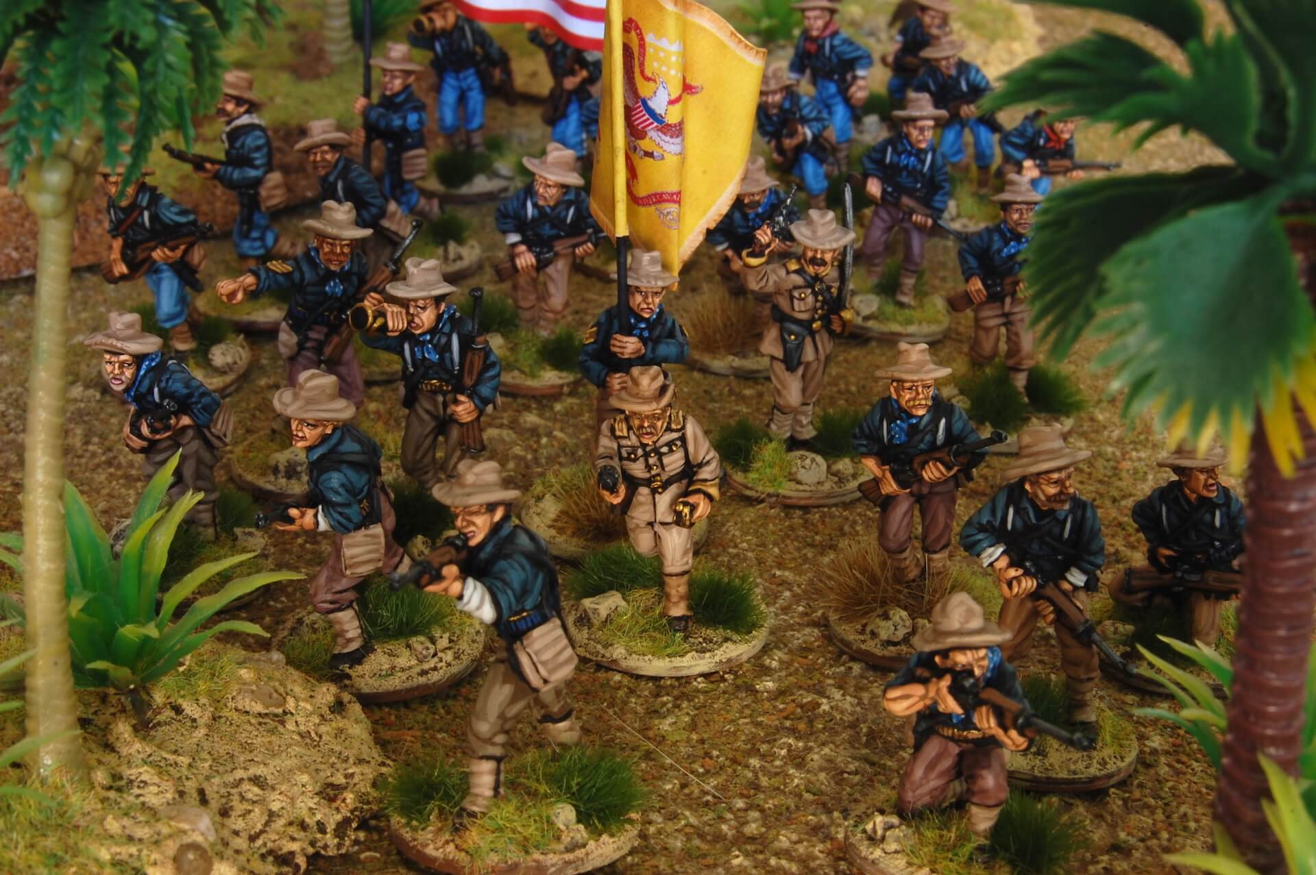 miniaturas de Rough Riders