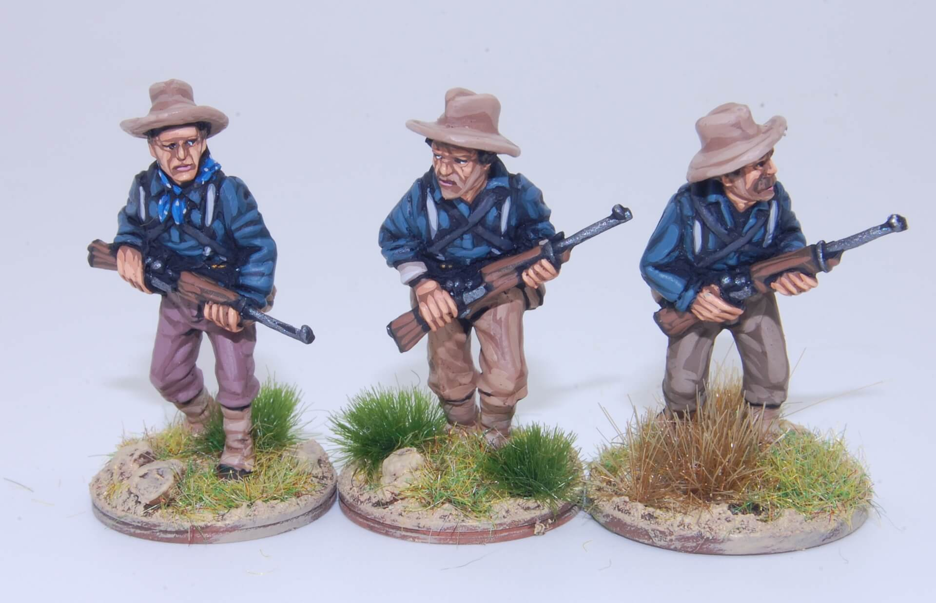 Pintar Rough Riders miniaturas 28 mm