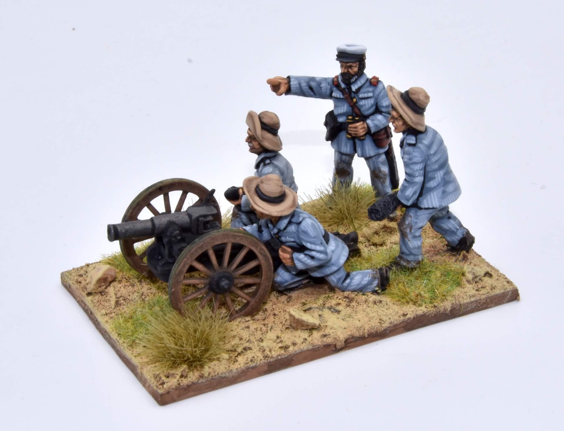 cañón de montaña Krupp de 75mm