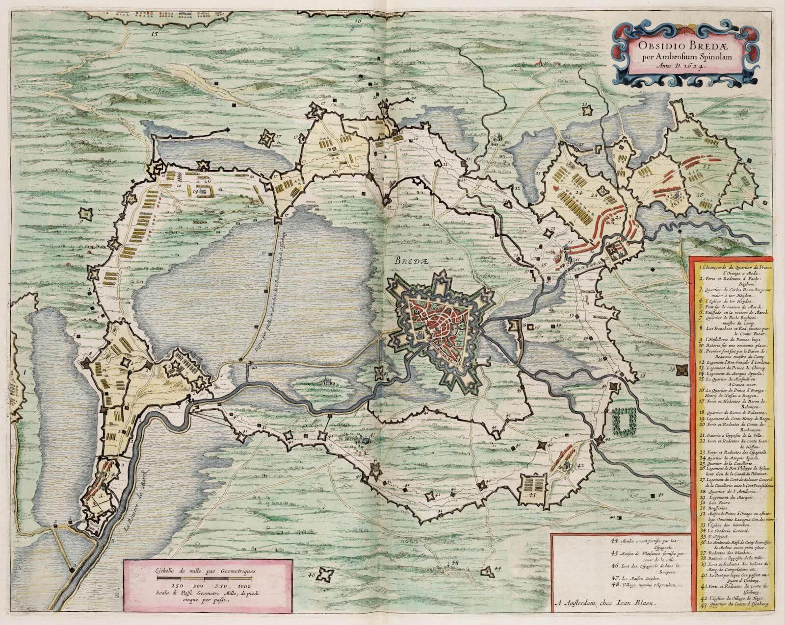 sitio de breda spínola 1624-1625 siege of breda